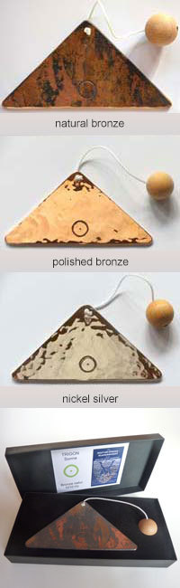 triangle plates  3 metals