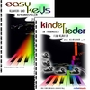 "SET of 2 COLOR PIANO BOOKS ""easy keys"" + kinderlieder"""