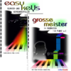 "SET of 2 COLOR PIANO BOOKS ""easy keys"" + ""Grosse Meister"""