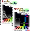 "Set of 2 Color Piano Books ""kinderlieder"" + ""grosse meister"""